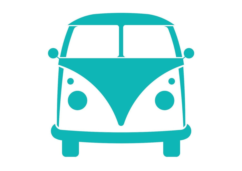Wand Schablone Auto Vw Bus Bulli Hippie Kindergarten Kinder