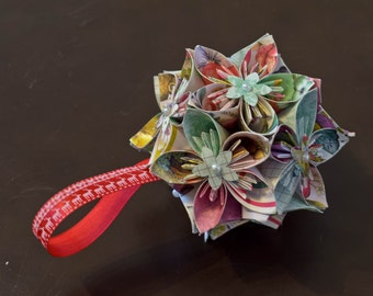 Origami Kusudama Flowers, Christmas decorations, home decor, birthdays, gifts