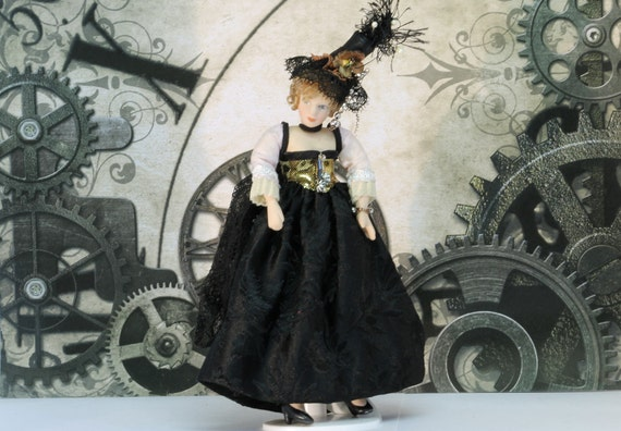 Steampunk Lady 'Alice' Dollshouse Scale 1/12th