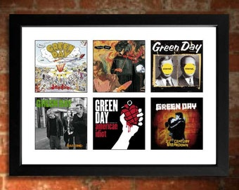 GREEN DAY Vinyl Albums Limited Edition Unframed A4 Art Print Mini Poster