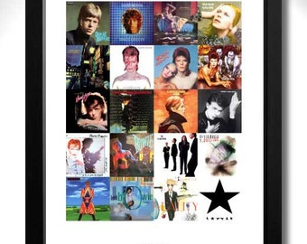 DAVID BOWIE Vinyl Albums Limited Edition Unframed Art Print - A3 size poster