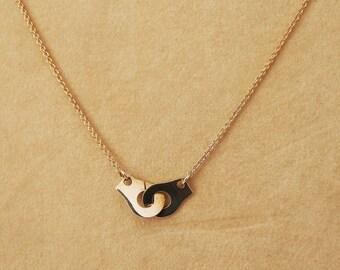 925 Silver Handcuff necklace