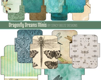 Dragonfly Dreams Mini Envelopes Digital Print