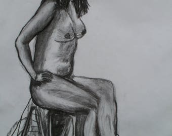 Life Drawing Lady Sitting