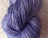 Blue Jean, One of a Kind, OOAK, tonal, hand dyed yarn, Merino wool, yarn, 100 grams, Fingering weight, superwash