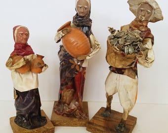 Mexican Folk Art, Mexican paper mache figures, folk art