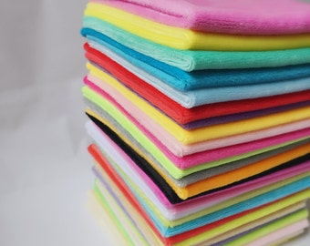 Soft and Cuddly Plush fabric for Soft Toys and more - 1.5mm Short Eco-friendly over 100 colors colletction