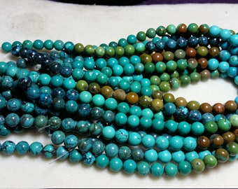 """Mixed Chinese Turquoise 8mm Round 15.5"""""""