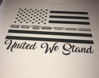 United we stand jeep shirt