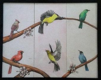 Birds Triptych