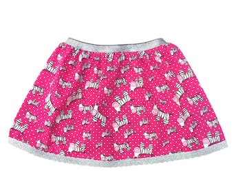 Girls' Zebra Skirt