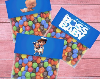 80% OFF SALE Boss Baby Bag Toppers, Boss Baby Goodie Bags, Boss Baby Treat Bags, Boss Baby Party, Bag Toppers