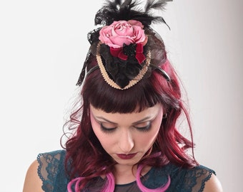 Victorian gothic hat fascinator