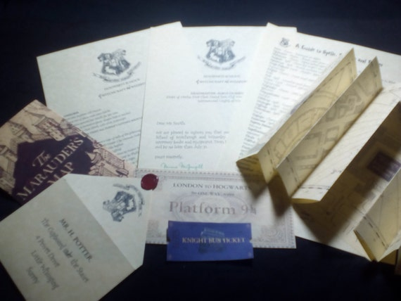 Personalised Hogwarts Acceptance Letter Gift Set With