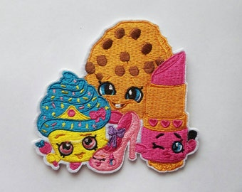 Shopkins iron on inspired patch, Shopkins embroidery patch inspired, Shopkins birthday party inpired large patch
