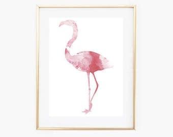 Flamingo art Print,Pink flamingo Print,INSTANT DOWNLOAD,Minimalist print,Printable Pink Art,Minimal Wall Art,Minimalist Wall Prints,Flamingo