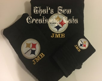 Pittsburgh Steelers Personalized 3 Piece Bath Towel Set NFL