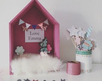 Pink decorative House