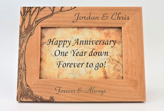 St wedding anniversary photo frame paper