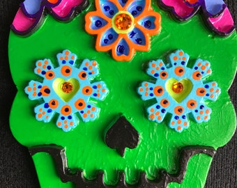 Dia de los Muertos Sugar Skull Hand Painted Magnets