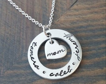 Personalized Necklace for Mom with Kids Names
