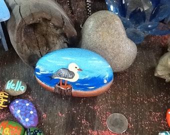 Seagull - Ocean - painted rocks - Beach rocks - beach life