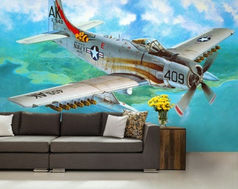 airplane wallpaper, a plane wall mural, air  wall mural, a plane wall mural, self-adhesive vinly, paint wall mural, abstract, air wallpaper