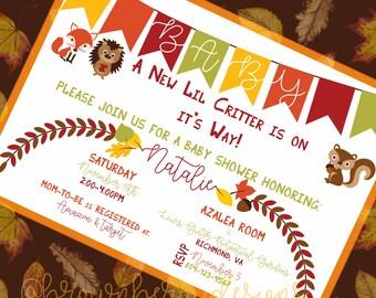 Baby Shower Invite: Autumn/Fall Little Critter