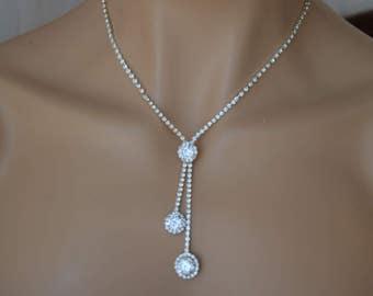 "Set of ""Minto"",Rhinestone Jewelry Set, Crystal Wedding Necklace Set, bridal jewelry set, wedding jewelry set, bridesmaid jewelry set."