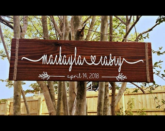Custom Wooden Sign, Wood Sign, Custom Sign for Home, Family Name Sign, Personalized Sign, Housewarming Gift, Wedding Sign, Anniversary Gift