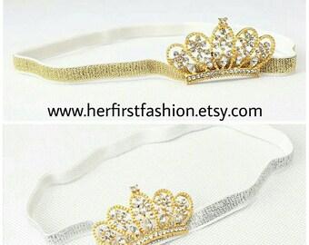 Gold and Silver Headbands Princess Rhinestones Tiaras