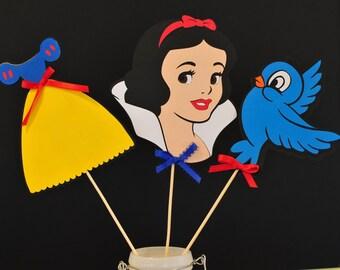 Snow White princess Table Topper centerpiece 3pc set