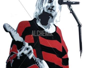 Kurt Cobain/Nirvana Illustration (print)