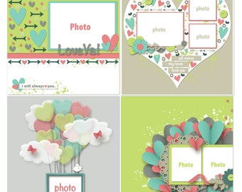 Love Ya Digital Scrapbooking Templates