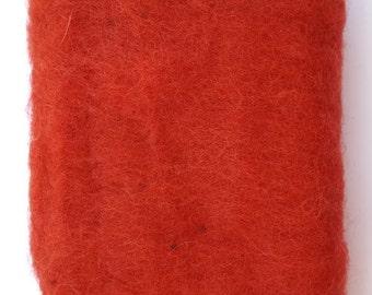 Merino Wool Roving - Crimson - 1 oz
