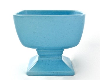 Mid Century Modern Blue Planter, Frankoma Planter, Vintage Planter, Ceramic, Garden Decor, Succulent Planter, Cactus Planter, Flower Pot