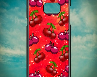 Cherry Bomb Pattern for Samsung Galaxy Note 3, Samsung Galaxy Note 4, Samsung Galaxy Note 5, Electronic Phone Case