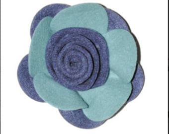 A classic rose, felt brooch - vintage style felt brooch