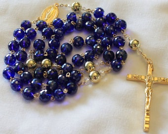 Blue and Gold Rosary
