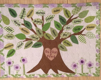 Family tree quilt/wall hanging