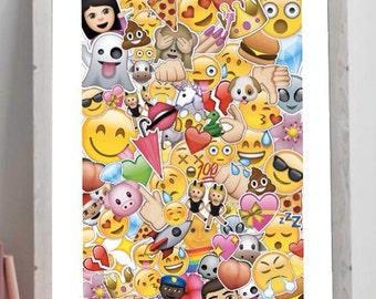 Emoji Poster Instant Download Printable Art A3