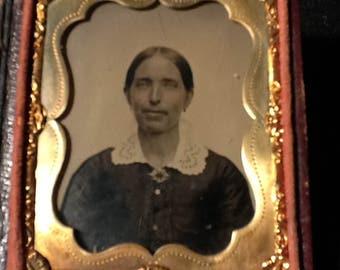 Antique Tintype Photo in Case