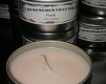 Floral Scented Soy Candle