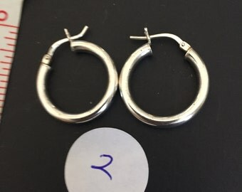 Vintage Sterling Hoop earrings-your choice