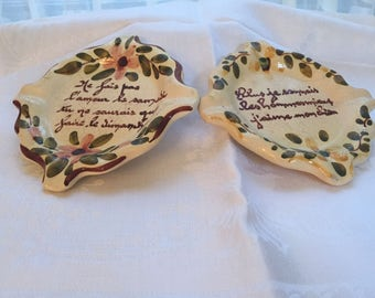 Vintage French Ceramic Ashtrays