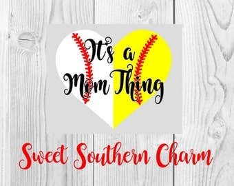 baseball mom svg - svg file - svg files - baseball svg file - mom svg file - its a mom thing svg - mom cut file - baseball cut file - files
