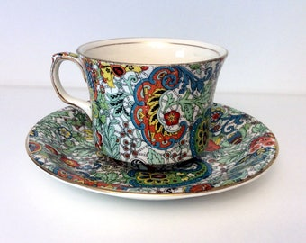Grimwades Royal Winton Ivory Chintz Paisley Teacup and Saucer
