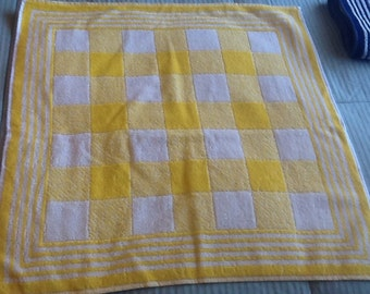 Yellow Checkered Terry towel