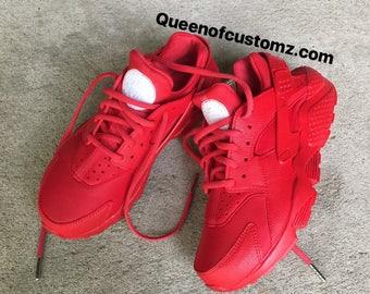 Fire Red Nike huaraches custom