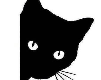 Black Cat Car/Laptop Sticker